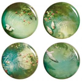 Set de 4 Assiettes Yuan - design Ibride sur LaCorbeille.fr