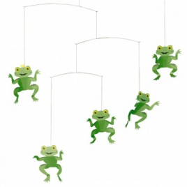 Happy frogs mobile