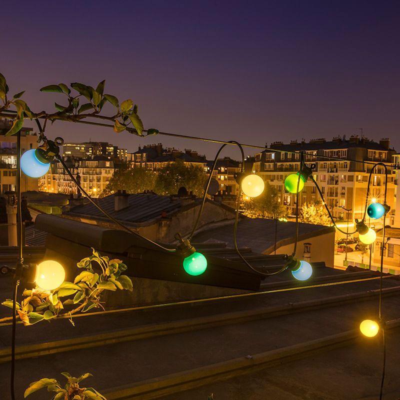 """""""Guinguette"""" outdoor light garland by La Case de Cousin ..."""