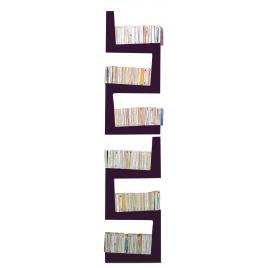 Bibliothèque TwoSnakes prune 2° choix - Design Benjamin Faure pour La Corbeille Editions