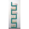 Bibliothèque TwoSnakes turquoise 2° choix Design Benjamin Faure pour La Corbeille Editions sur LaCorbeille.fr