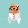 Coquetier Fusée Apollo Egg de la marque Donkey Product sur LaCorbeille.fr