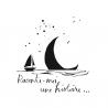 """Sticker Lune à l'eau """"Raconte-moi une histoire..."""""""