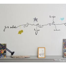 """Sticker guirlande """"La Charmeuse"""" de la collection Poetic Wall du duo Mel & Kio sur LaCorbeille.fr"""