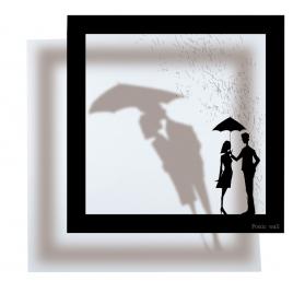 Sticker Cadre Ombre Pluie d'Amour