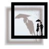 "Sticker frame shadow ""Rain of Love"""