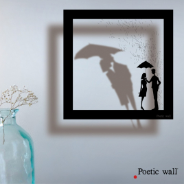 "Sticker frame shadow ""Rain of Love"""