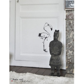Sticker Le Flamant de la collection Poetic Wall par Mel et Kio sur LaCorbeille.fr