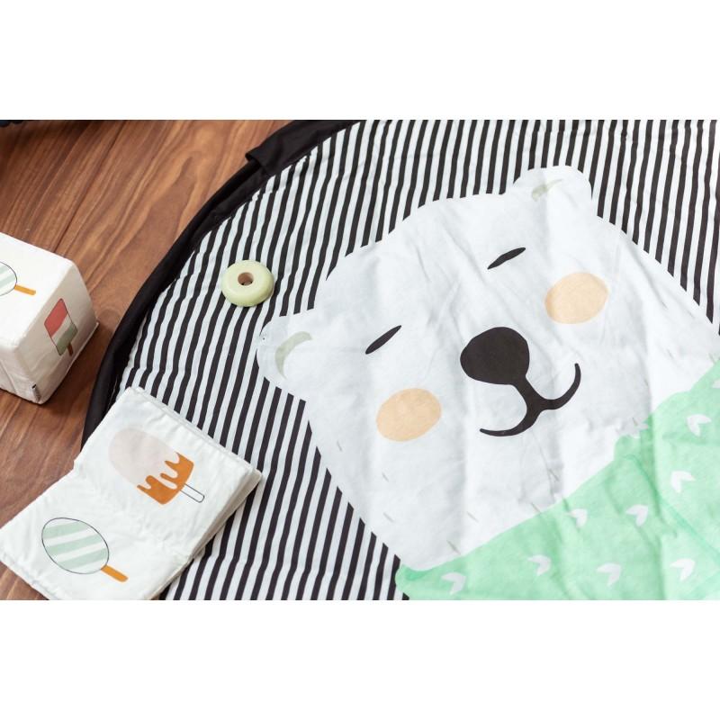 sac tapis de jeu ours polaire soft lacorbeille fr. Black Bedroom Furniture Sets. Home Design Ideas