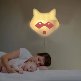 Red Raccoon wall light