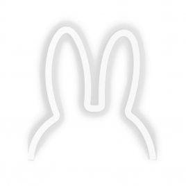 Applique Led Lapin en blanc