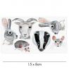"""Sticker pour Porcelaine """"Animaux"""" de la marque Nuukk sur LaCorbeille.fr"""