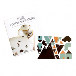 Porcelain stickers Little Town