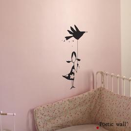 Sticker La Petite Fille de la Marque Poetic wall® sur LaCorbeille.fr
