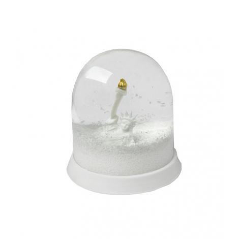 Statue of Liberty Snow storm Globe
