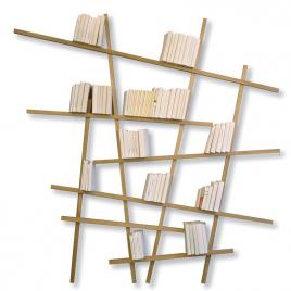 Bibliotheque bois chêne design Mikado - Ed Compagnie - sur laCorbeille.fr