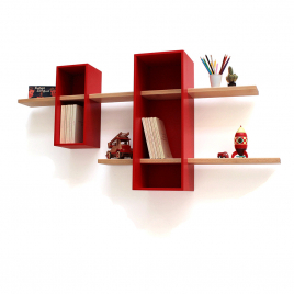 Max wall bookcase - Double version