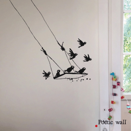 Sticker La Balançoire de la Marque Poetic wall® sur LaCorbeille.fr