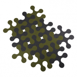 "Wool felt carpet ""Molecule"" x 12"