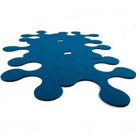 Tapis en feutre de 6 pièces Molécules design Nathalie et Cyril Daniel sur LaCorbeille.fr