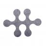 """Felt carpet """"Molecule"""" x6 pieces"""