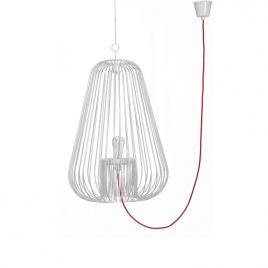 Grande suspension noire Light Cage design Jocelyn Deris sur LaCorbeille.fr