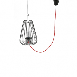 Luminaire design Suspension design blanche Light Cage design Jocelyn Deris sur LaCorbeille.fr