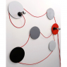 Wall lamp SPOTLIGHT : grey & colour(s)