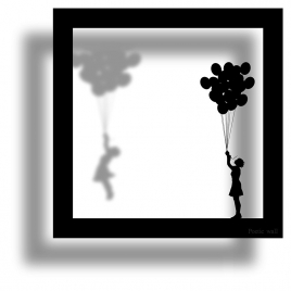 Sticker frame shadow The Envoleuse