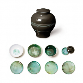Set of 8 pieces for table Yuan designed by Ibride