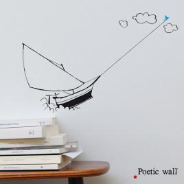 Sticker Le Voilier de la Marque Poetic wall® sur LaCorbeille.fr