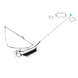 "Sticker ""The Sailboat"""