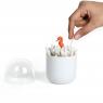 Boîte pour coton-tiges Hippocampe de la marque Qualy sur LaCorbeille.fr