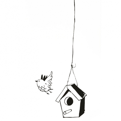 "Sticker ""La Mangeoire"" / Bird house"