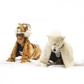 Ours Polaire : déguisement, tapis et plaid de la marque Wild and Soft sur LaCorbeille.fr