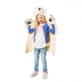 Ours Polaire : déguisement, tapis et plaid