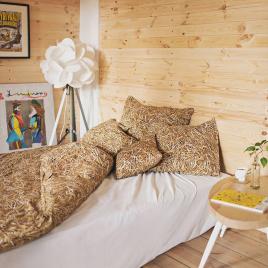 Parure de lit 1 ou 2 places Paille de la marque Foonka sur LaCorbeille.fr sur LaCorbeille.fr