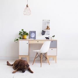 Wood design Desk with storages
