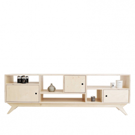Low sideboard with Scandinavian inspiration on LaCorbeille.fr