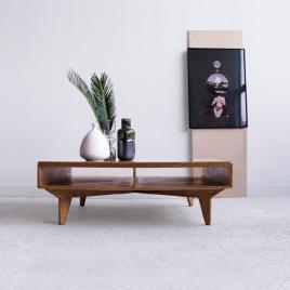 Table basse carrée en bois Boomba sur LaCorbeille.fr
