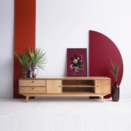 Buffet bas en bois Uran.1 de la marque Wood Republic sur LaCorbeille.fr
