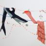 Echarpe tricotée Meri Meri Alligator, Requin ou Flamant Rose sur LaCorbeille.fr