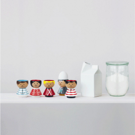 Wood Egg cup Bordfolk for BOY by Lucie Kaas