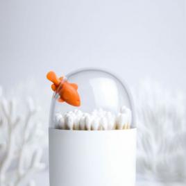 Boîte pour coton-tiges Poisson-clown de la marque Qualy sur LaCorbeille.fr