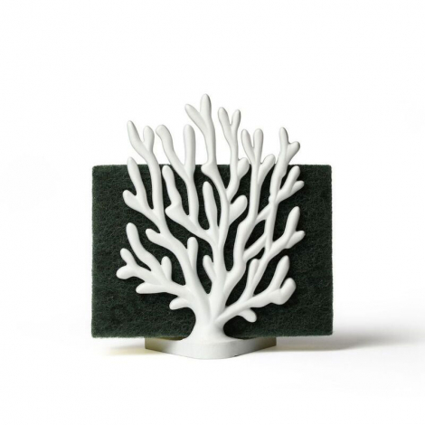 Sponge Holder Coral by Qualy on LaCorbeille.fr