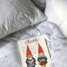 """Parure de lit décor """"Neige"""" 1 ou 2 places de la marque Hayka sur LaCorbeille.fr"""
