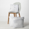 Cushion with nature printing by the brand Hayka on LaCorbeille.fr