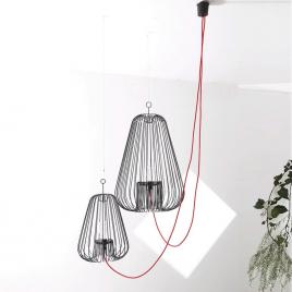 Grande suspension noire Light Cage design Jocelyn Deris sur LaCorbeille.fr