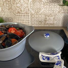 "Grey casserole dish ""Ma Jolie Cocotte"""