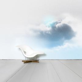Papier-peint panoramique Floccus design Benjamin Graindorge pour Moustache